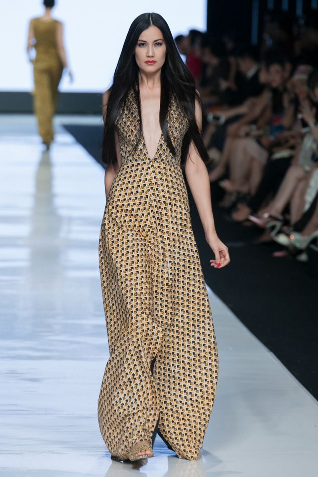 Long dress jakarta fabric