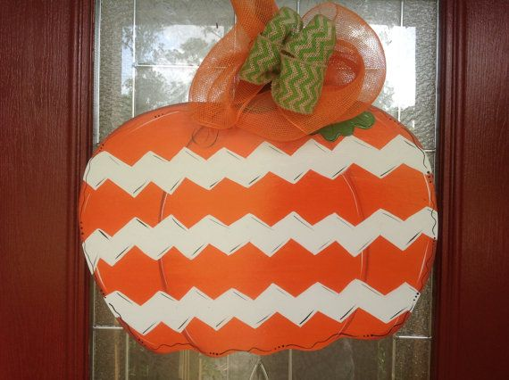 fall door hanger pumpkin ddoor hanger front door by samthecrafter