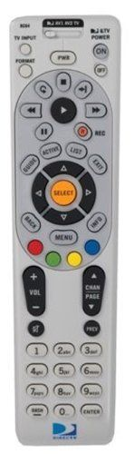 DirecTV RC64 Universal Remote Control by One For All. $14.99. One For All universal DIRECTV remote replaces lost or broken remotes and controls up to 4 AV components. Designed to operate all features of the DIRECTV receiver and works with any DIRECTV receiver. Extensive universal code library ensures compatibility with most audio and video devices. Four-position MODE slide switch for easy component selection and code search to help program control of older or discontinued c...