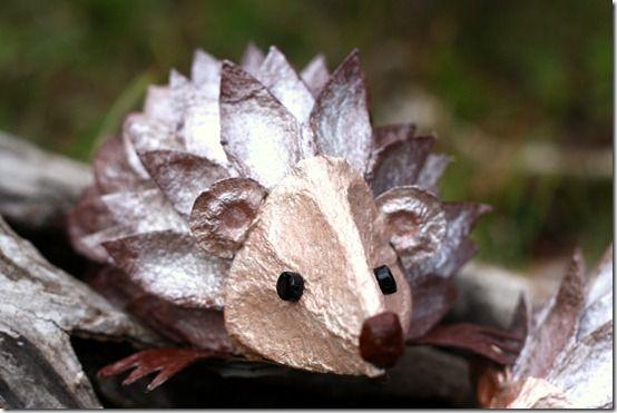 egg carton hedgehog