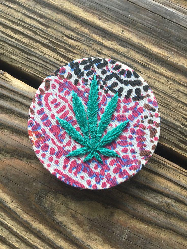 A personal favorite from my Etsy shop https://www.etsy.com/listing/514420806/stoner-art-rainbow-marijuana-cannabis
