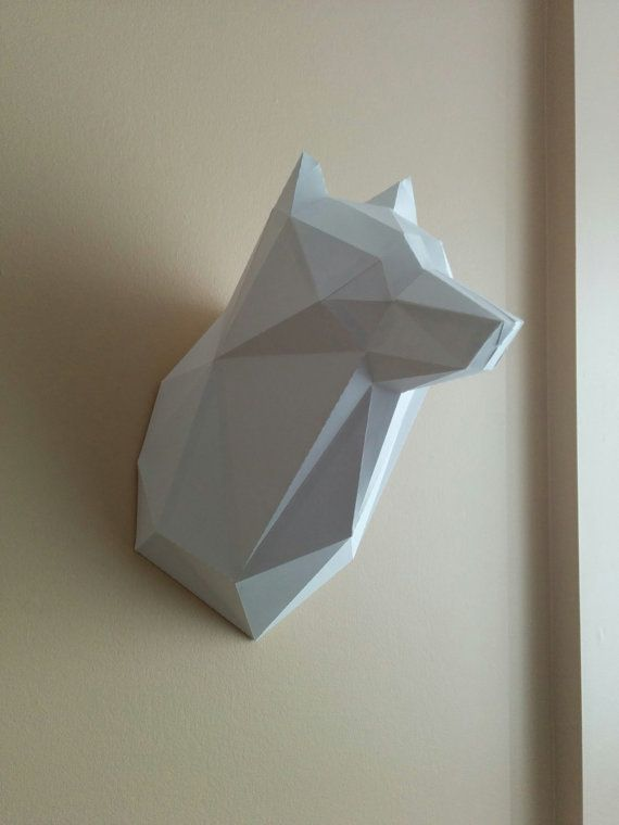 17 Best Images About 3d Papercreft Animal Heads On
