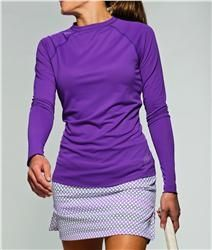 Jofit UV protection Long Sleeve Top in Violet | #Golf4Her #golf #tennis
