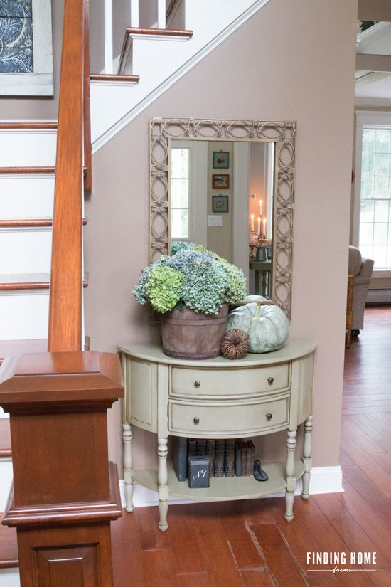 Decorating A Fall Entryway Or Fall Foyer With Finding Home Farms