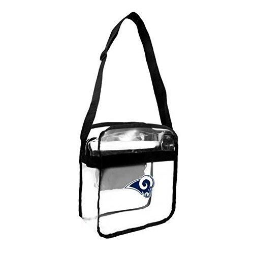 115 NFL Rams Clear Bag Stadium Approved Football Themed See Through Cross Body Bags Sports Patterned Team Logo Printed Fashion Gift Fan Black Blue