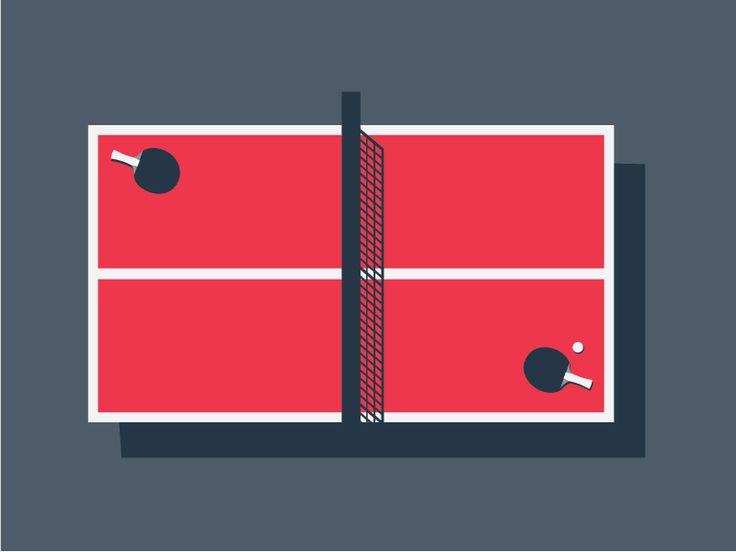 Table Tennis table Illustration