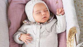 Sticka kofta, mössa till baby gratis mönster
