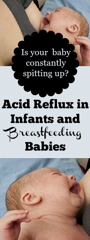 When baby is constantly spitting up...here is help for acid reflux in infants and breastfeeding babies.