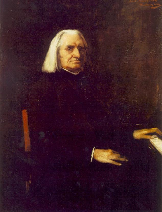 Munkácsy Mihály – Liszt Ferenc portréja