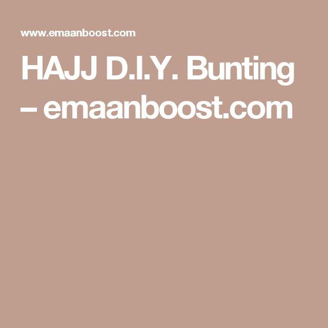HAJJ D.I.Y. Bunting – emaanboost.com