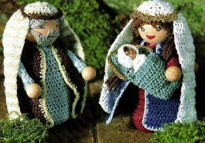 """Speciale Natale: lavori con l'uncinetto """"La Sacra Famiglia"""""""
