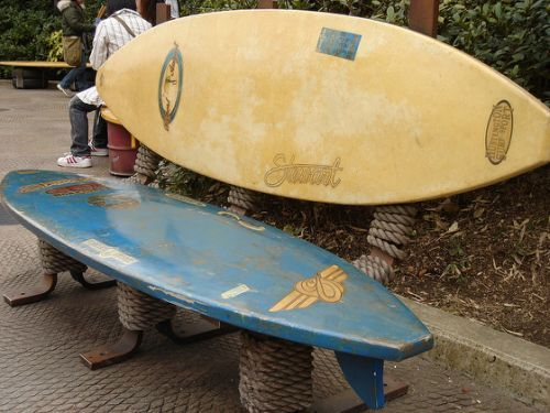 Surfboard Bench Flickr Photo Home Projects