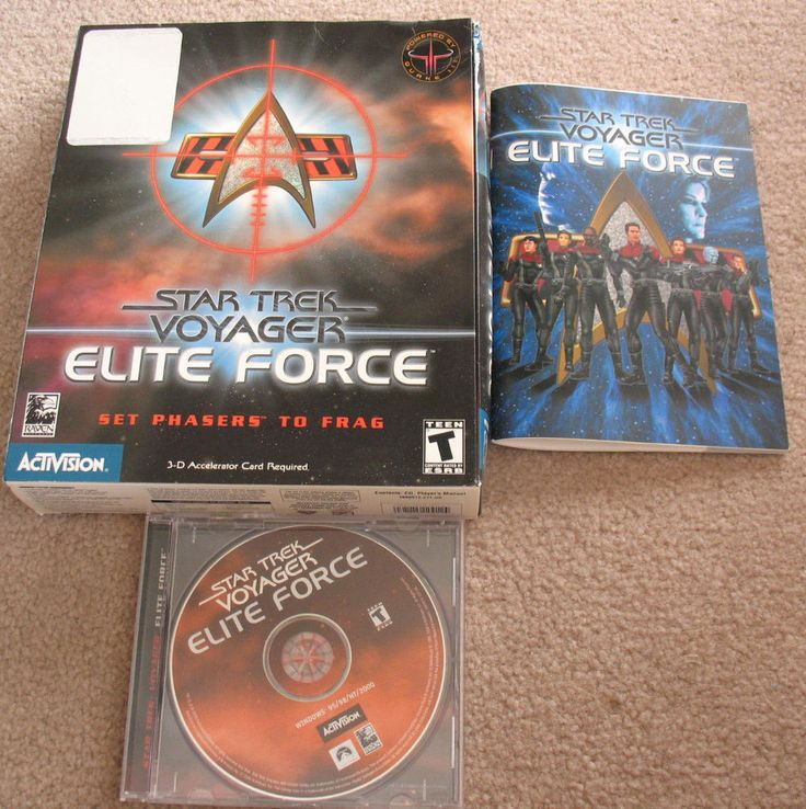 Star Trek: Voyager Elite Force (PC, 2000) Complete in Big Box  ACTIVISION #activision