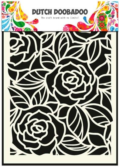 470.715.023 Dutch Doobadoo Mask Art Stencil Bog Rose 1 st.