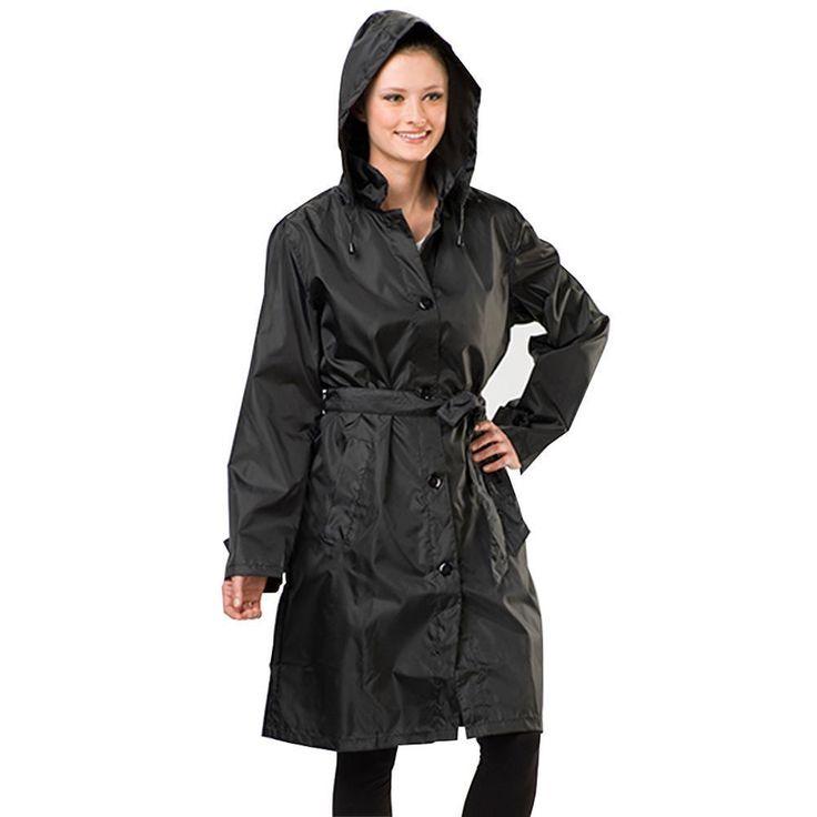 Sporto Women's Lightweight Packable Rain Jacket