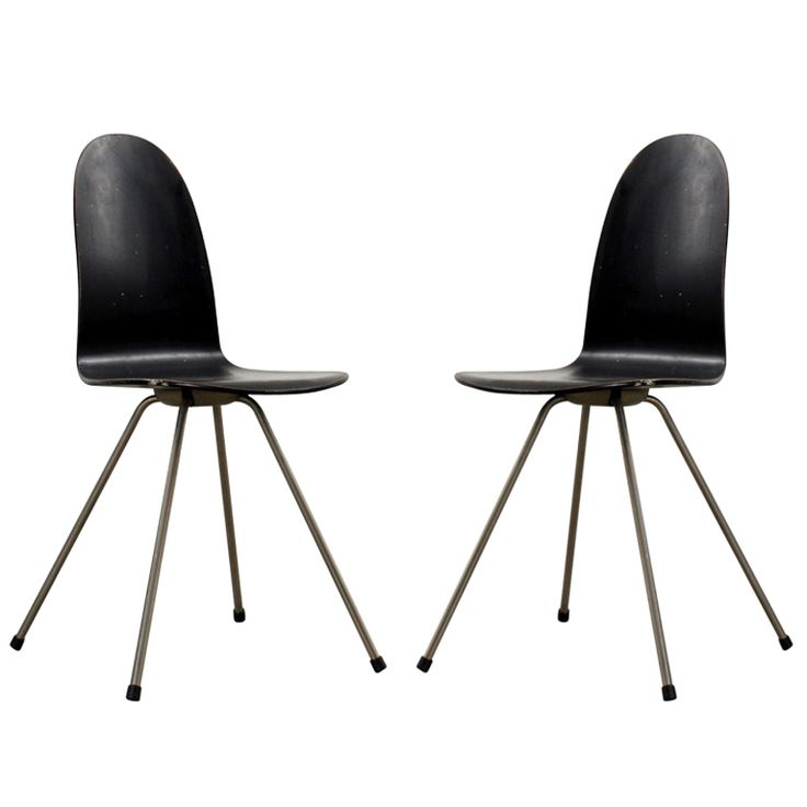 1stdibs pair of arne jacobsen tongue chairs