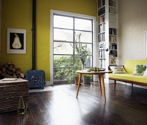I've just painted a wall in my flat this colour. It's Printroom Yellow by Farrow and Ball.