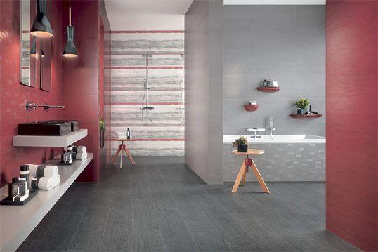 Красная плитка для ванной комнаты, новинка