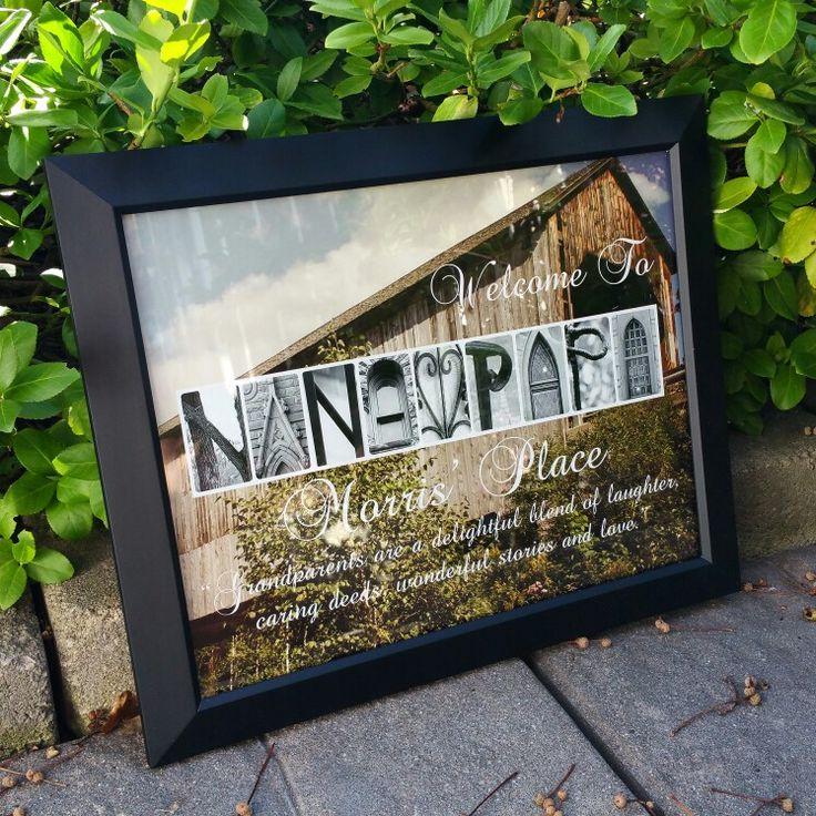 Grandparent letter art sign
