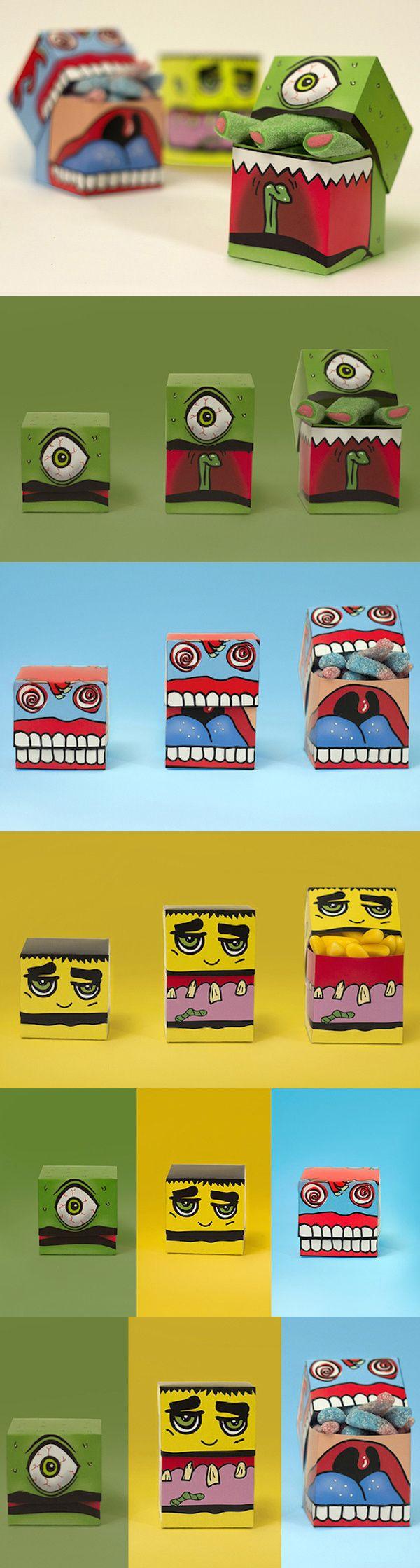 趣味怪物糖果包装设计欣赏