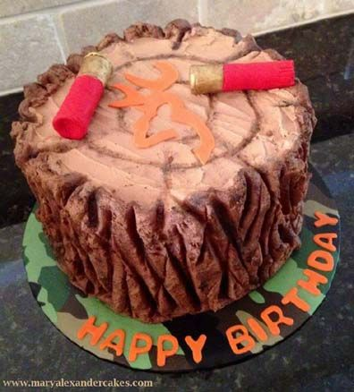 Welcome to Mary Alexander's Cakes in Dallas Texas.  Deer hunting theme cake.