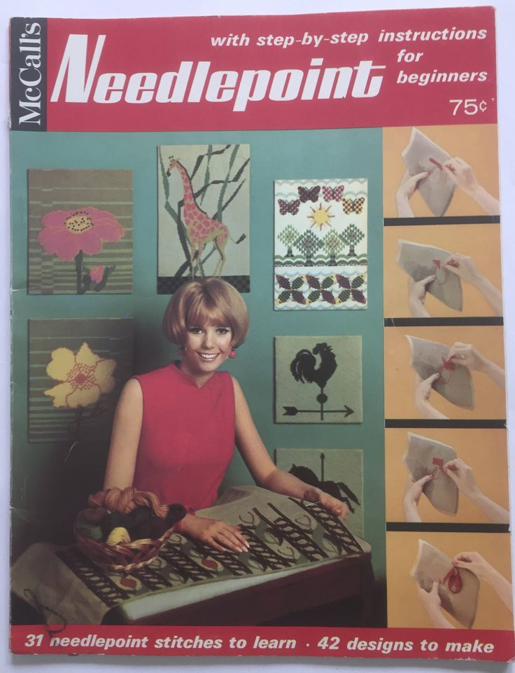 McCalls Needlepoint  - For Beginners Vintage Magazine by ChezShirlianne on Etsy