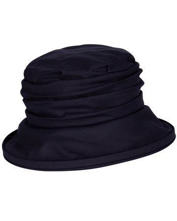Ladies Annabel Wax Hat with Rouched Crown