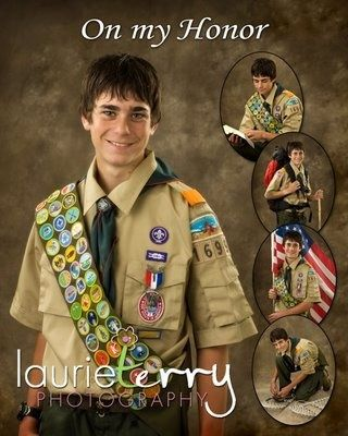 Eagle scout portrait collage-- would be cool for bug when he gets his eagle