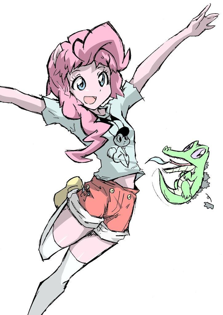 #331057 - artist:twilightlimits, gummy, humanized, nokko, pinkie pie, pony coloring, safe, wonder 3 - Derpibooru - My Little Pony: Friendship is Magic Imageboard