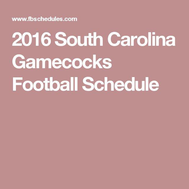 2016 South Carolina Gamecocks Football Schedule