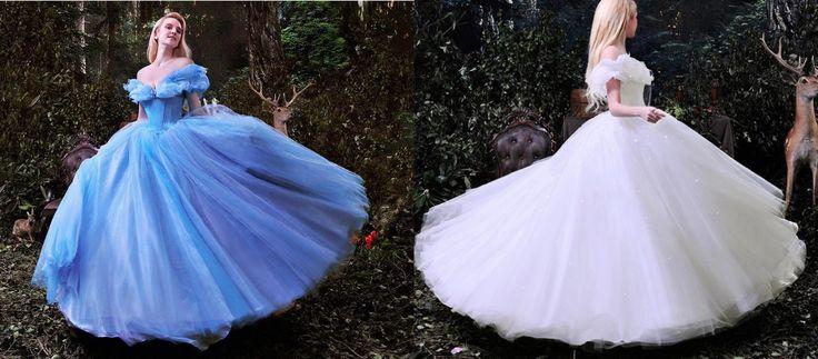 Encontre mais Vestidos de noiva Informações sobre Hot sale cinderela vestido azul e branco real pictures puffy princesa brilhante vestidos de casamento vestido de noiva, de alta qualidade Vestidos de noiva de Rosemary&Memory em Aliexpress.com