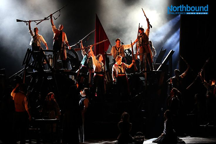 """Cast of the Broadway musical play,' Les Miserables,' led by Filipina actress-singer Rachelle Ann Go, show excerpts of the play on Tuesday March 15 at the Solaire theater as they prepare for their Asian tour. The longest running musical in entertainment history,""""Les Miserables"""" has been seen by over 70 million people in 44 countries and translated in 22 languages around the globe. DANNY PATA / northboundasia.com"""
