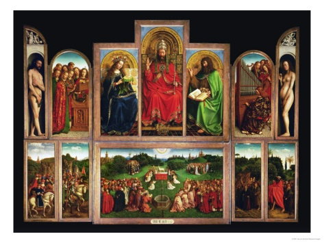 The Ghent Altar, Polyptych with the Adoration of the Mystical Lamb, 1432