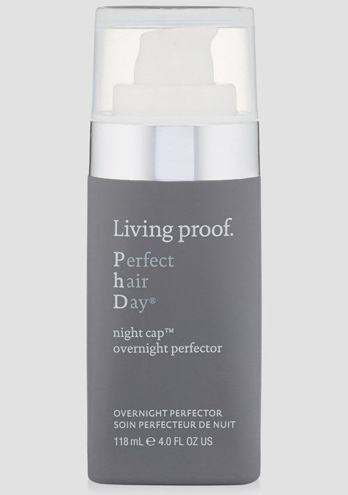 Living Proof Night Cap Protector increases shine and manageability overnight. | 30 Amazing Products Hairstylists Actually Swear By