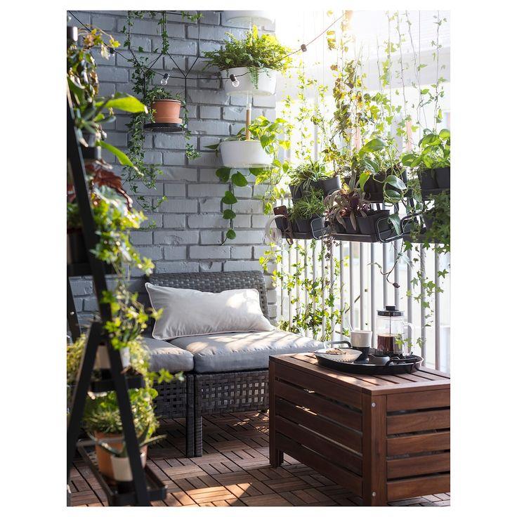 IKEA APPLARO Brown Stained Brown Storage bench, outdoor