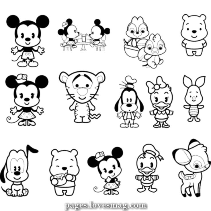 Great Cute Disney Coloring Pages Disneycoloringpages Disneycolouringingpages Cutecolor Baby Disney Characters Cute Coloring Pages Disney Cuties