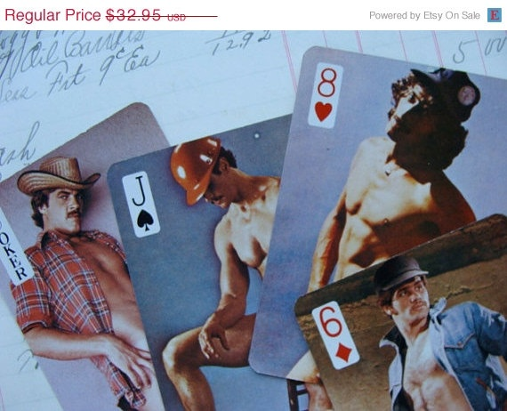 vintage nude male playing cards
