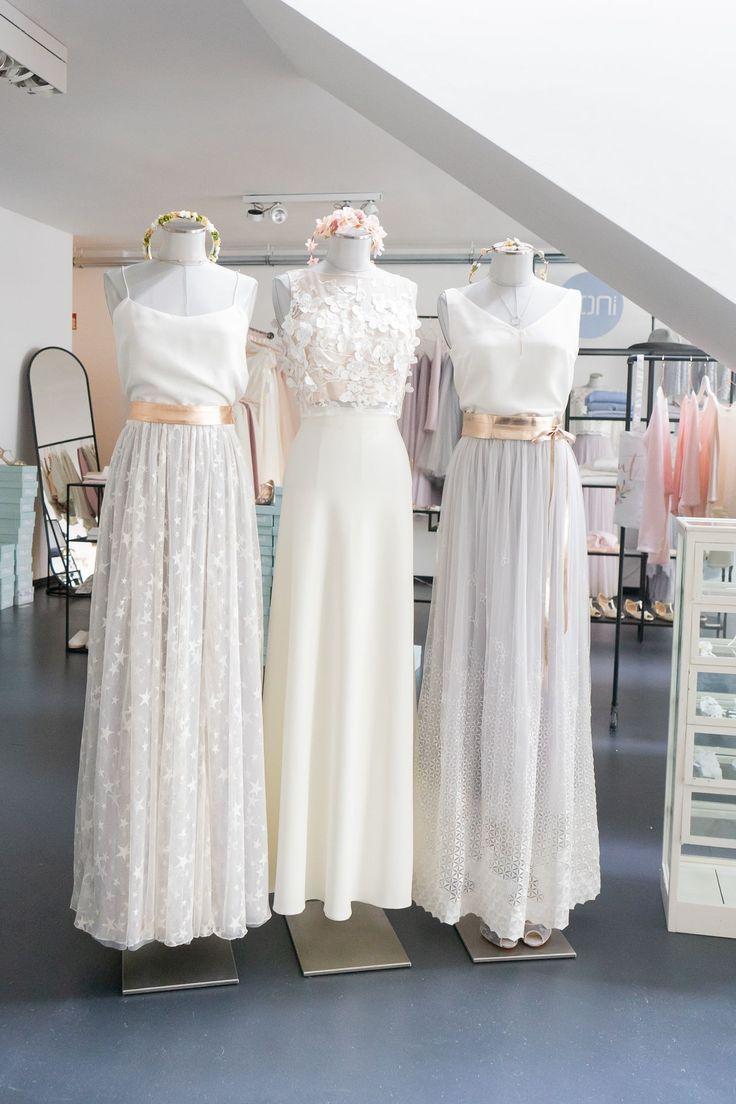 Mix & Match Brautkleid Zweiteiler für die Hochzeit in 10  Kleid