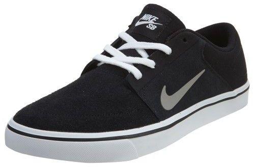 Nike Men's SB Portmore Black/Mdm Gry/White/Gm Lght Brwn Skate Shoe 8.5 Men US