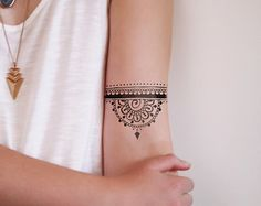 Mandala temporäre Tattoo / böhmische temporäres tattoo / Boho temporäres tattoo / Mandala Geschenk / Mandala fake Tätowierung / Boho Geschenkidee / Mandala – Tattoo