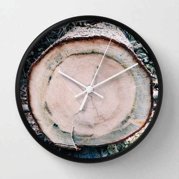 Wood wall clock by Francesco Bertozzi