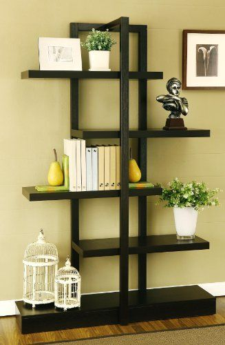 Enitial Lab Lydia 5-Shelves Display Stand, Cappuccino