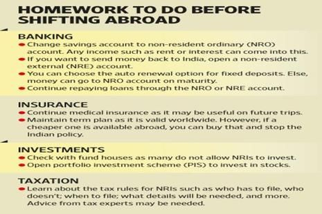 Financial steps before moving abroad