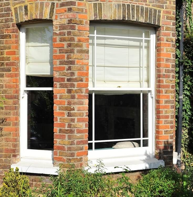 Bay sash window manufactured and installed at The Sash Window Workshop