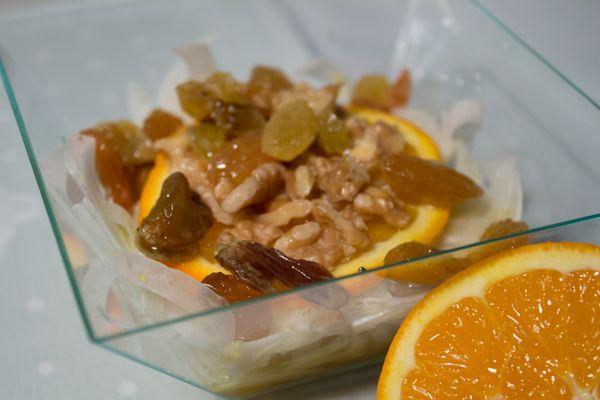 Insalata finocchi, noci e arancia