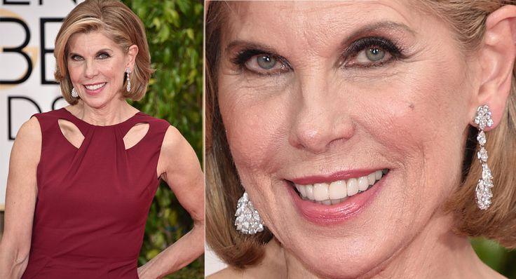 Golden Globes 2015 Jewellery: Christine Baranski in Fred Leighton