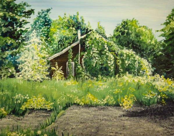 """""""Thunder Bay House""""  Visit my Etsy shop: www.sweetpeafineart.etsy.com View my artist website: www.sweetpeafineart.com"""