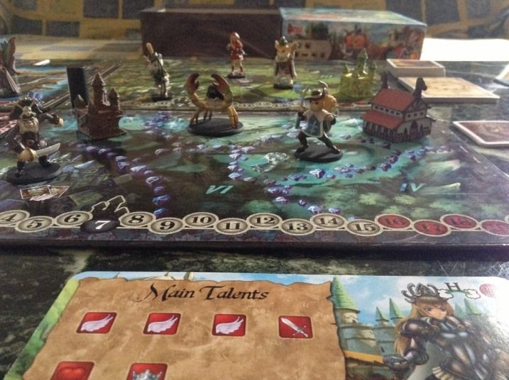 Playing 12 Realms. More photos will be posted after Essen Spiel. This photo is from sample copy we got: http://magecompany.com/