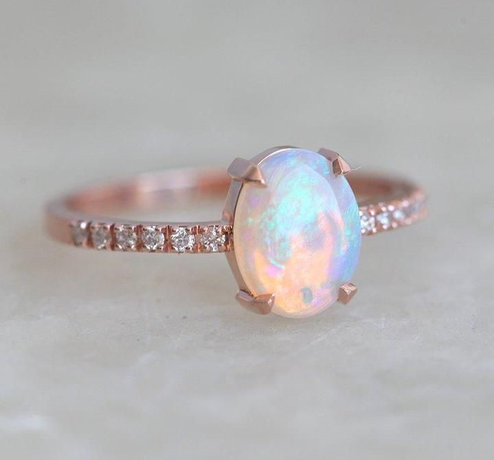 Opal Ring Natural Opal Ring Engagement Ring 925 Sterling Silver Gold Plated Opal Silver Ring Opal Cushion Ring Gift For Her