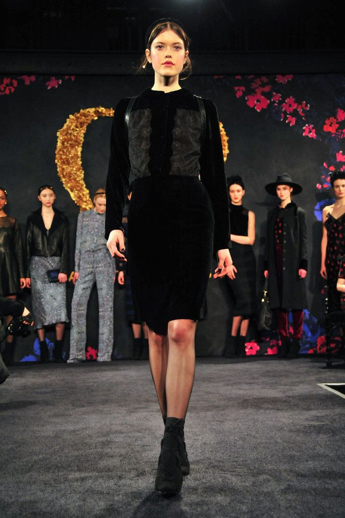 Dark, Flirty Florals From Charlotte Ronson's Fall Collection: Charlotte Ronson's twin sister Samantha was kind enough to DJ her Fall 2014 presentation.